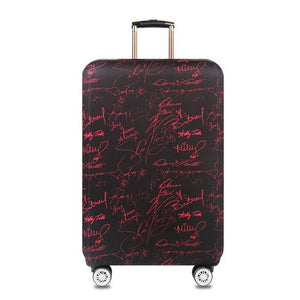Travel Around The World | Standard Design | Luggage Suitcase Protective Cover interesting sortedfactory Personal signature S