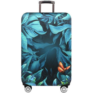 Travel Around The World | Standard Design | Luggage Suitcase Protective Cover interesting sortedfactory Deep rain forest S