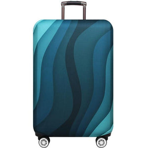 Travel Around The World | Standard Design | Luggage Suitcase Protective Cover interesting sortedfactory Green ripple S
