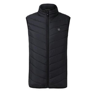 Smart Heated Vest | Stay Warm This Winter interesting sortedfactory Black S