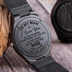 To My Man Always - IC02 Wood Watch