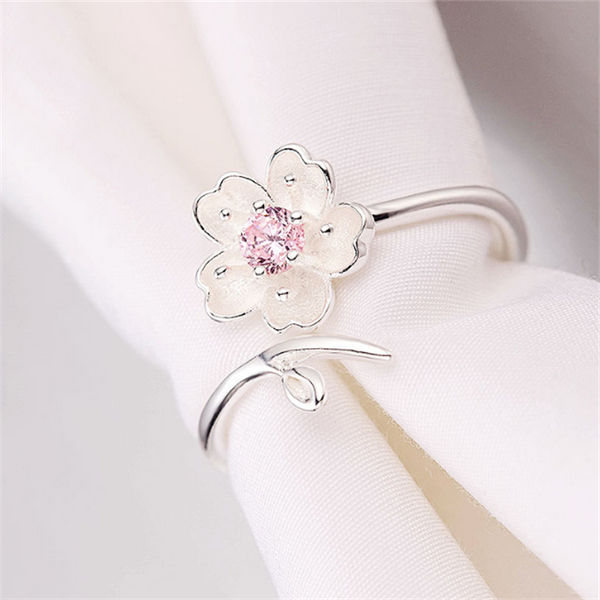 Flower Ring (Real Sterling Silver)