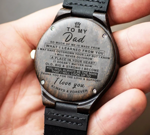 To My Dad - IC01 Wood Watch