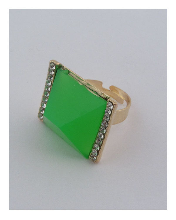 Square neon adjustable ring