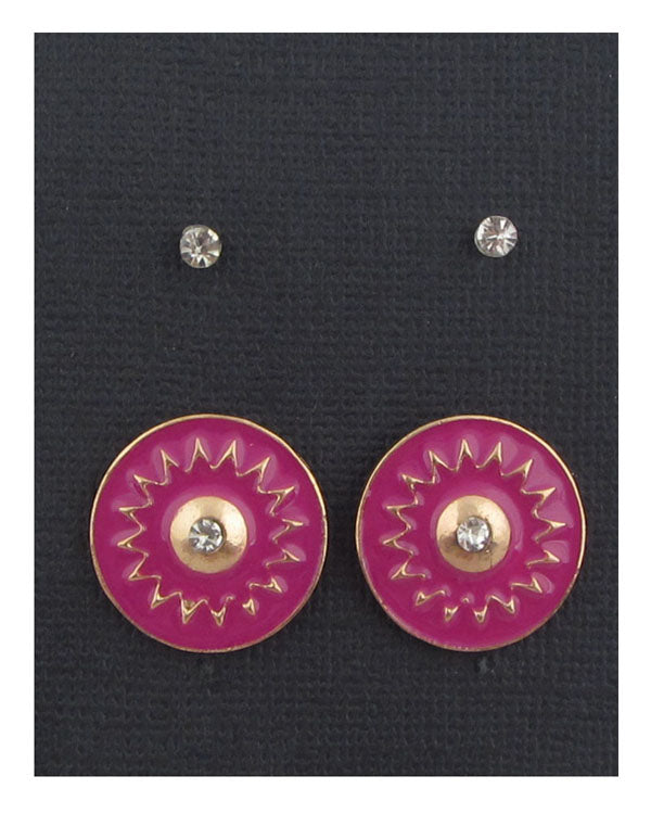 Sun studs earrings