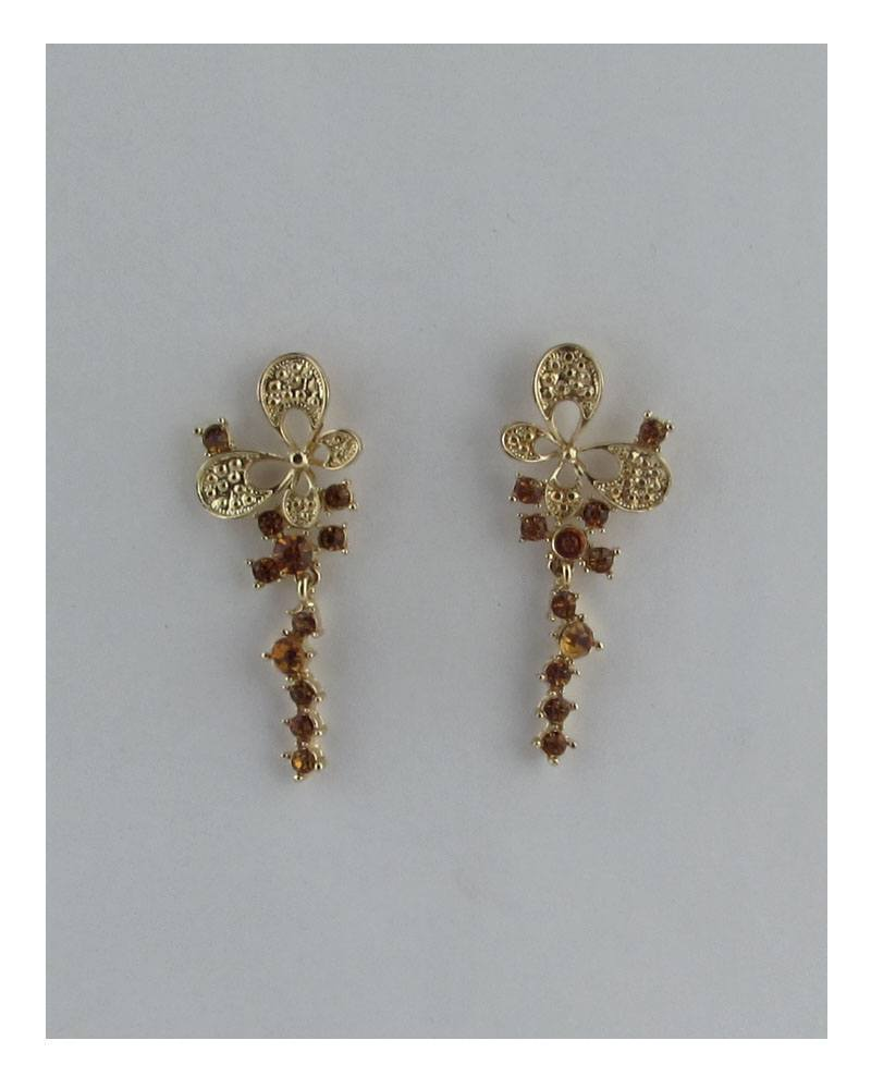 Butterfly linear stud drop earrings