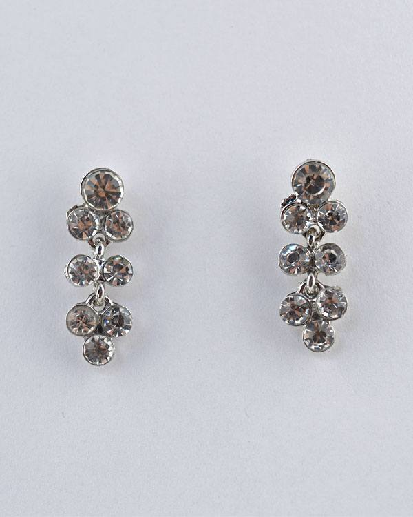 Rhinestone Studded Long Bunch Earrings