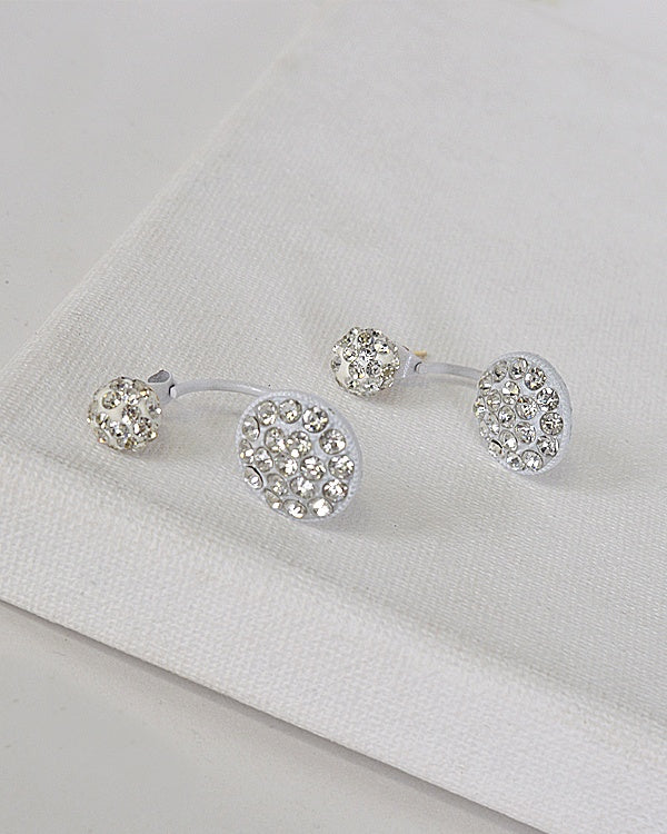 Circular Pattern Rhinestone Studded Drop Earrings id.31590