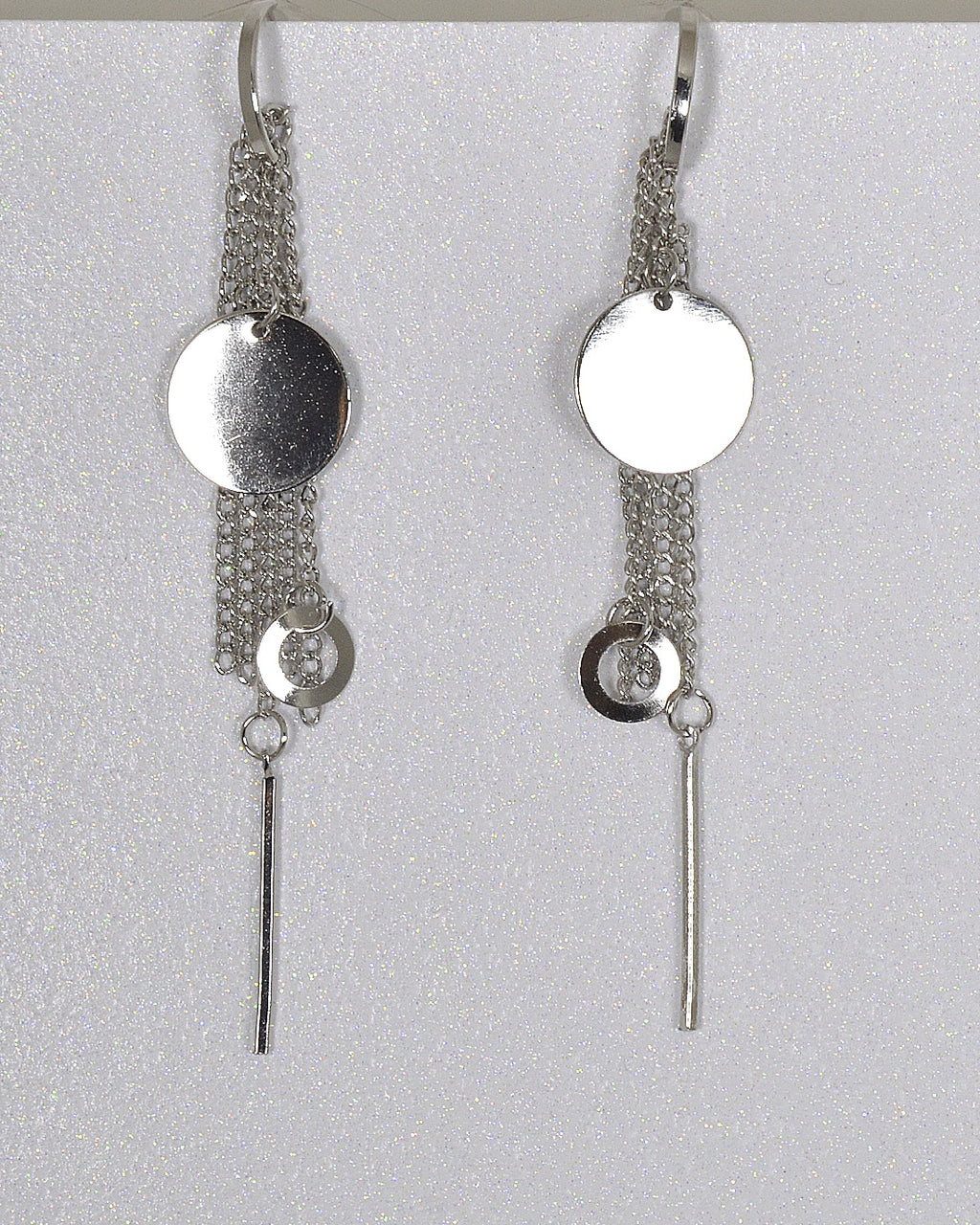 Metal Detailing Drop Earrings with Interlink Chain Accents