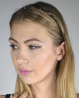 Stylish Metal Accent Hair Band