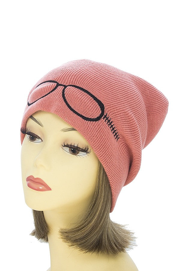 Embroidered glass beanie