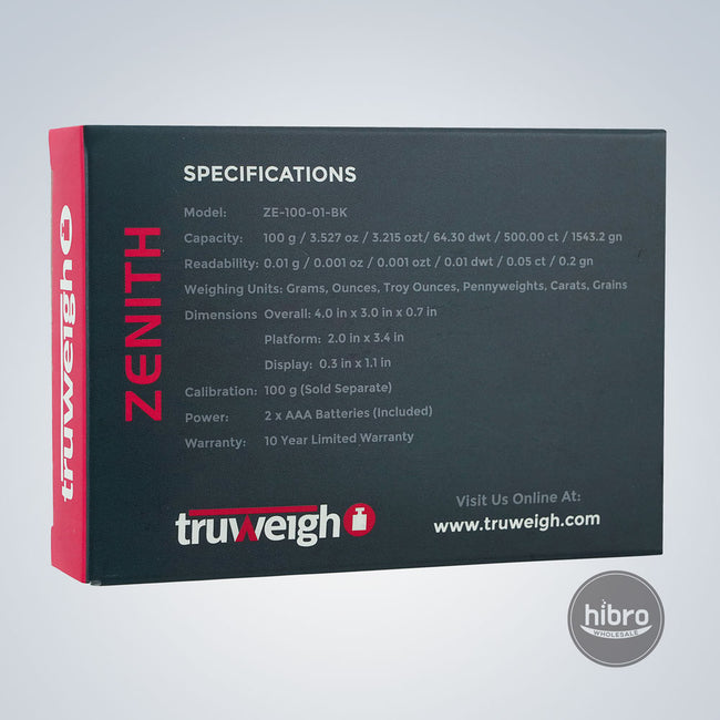 TRUWEIGH ZENITH 100G X 0.1G - BLACK
