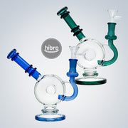 "7.25"" THICK DONUT RECYCLER WATER PIPE"