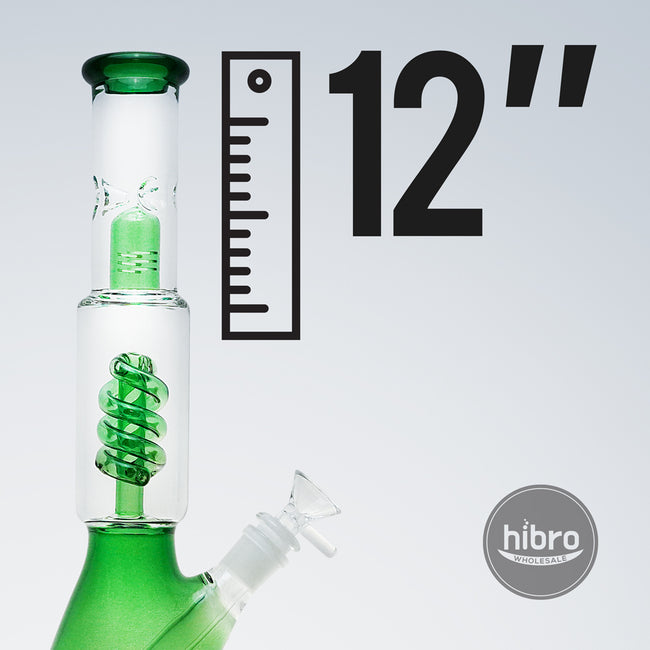 "12"" COIL PERC WATER PIPE (GREEN)"