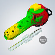 "STRATUS 4"" 2-IN-1 SILICONE HAND PIPE & NECTAR COLLECTOR"
