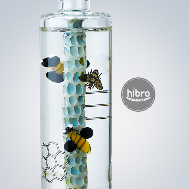 "9.8"" FREEZABLE BEE WATER PIPE"