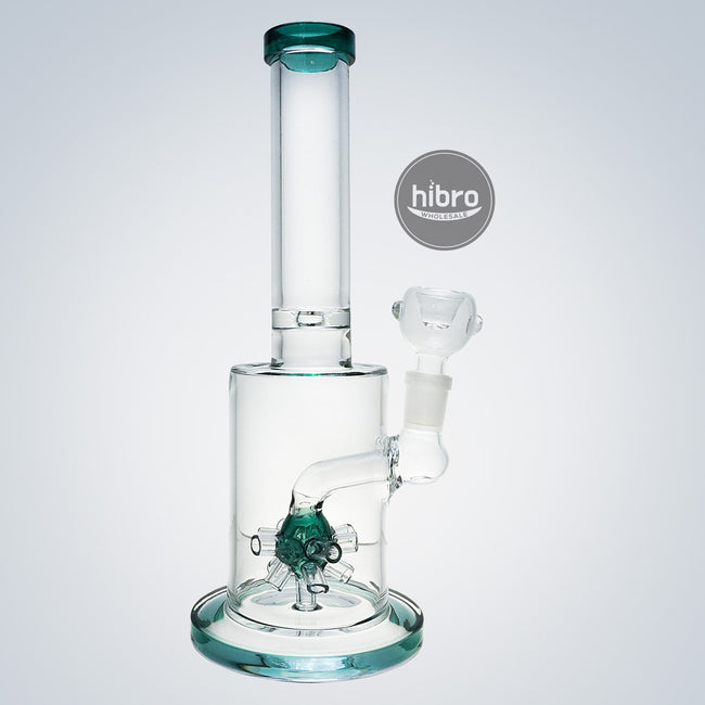 "10"" WATER PIPE W/ BOMB - SEA GREEN"