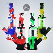 "12"" 2IN1 SILICONE WATER PIPE & NECTAR STRAW"