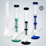 "16"" BEAKER DOUBLE TREE PERC WATER PIPE"