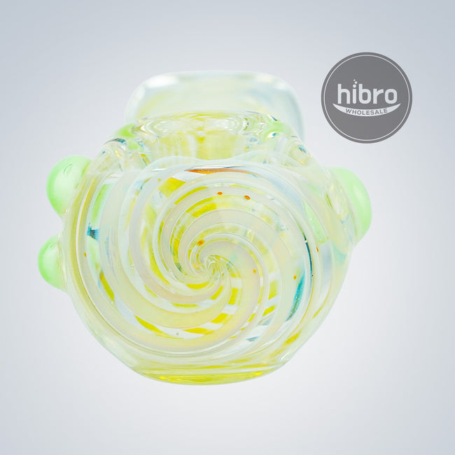"3.5"" LIME SWIRL SPOON PIPE"