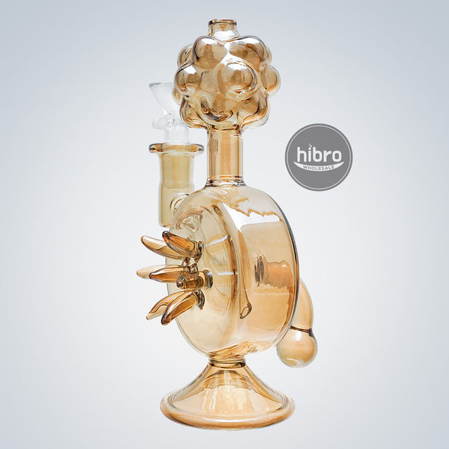 "8"" WATER PIPE PLUB - SHINNY CHAMPAGNE GOLD"