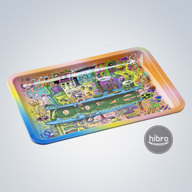 OOZE ROLLING TRAY LARGE - METAL - OOZEVILLE