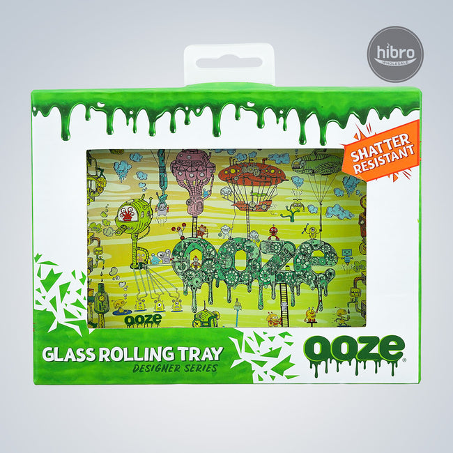 OOZE SHATTER RESISTANT GLASS TRAY - THE WORKS