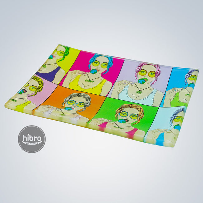 OOZE SHATTER RESISTANT GLASS TRAY - CANDY SHOP