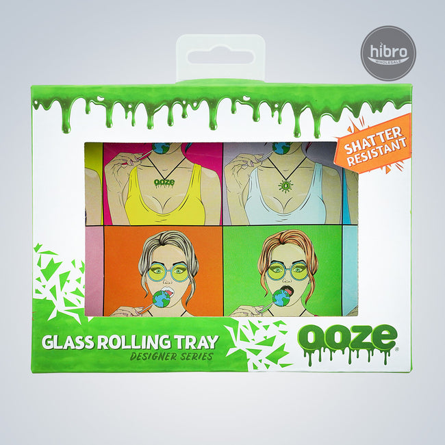 OOZE SHATTER RESISTANT GLASS TRAY - ACNDY SHOP