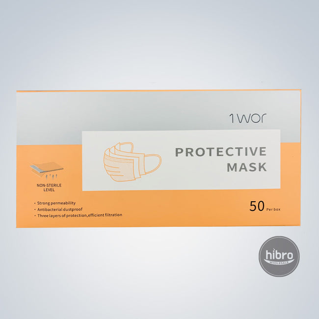 1WOR FACE DISPOSABLE MASKS - 50CT