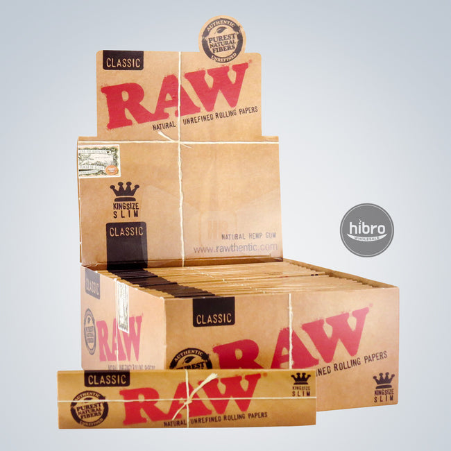 RAW CLASSIC KING SIZE SLIM PAPERS - 50ct
