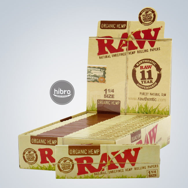 RAW ORGANIC 1 ¼ PAPERS - 50ct/24pk