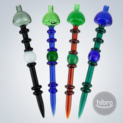 (GLASS) 2 IN 1 RINGED CARB CAP DABBER