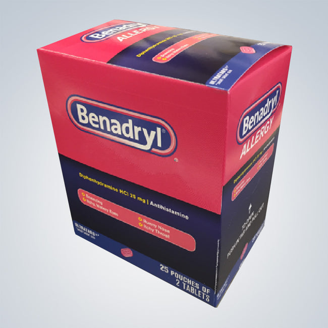 BENADRYL ALLERGY 25CT ($0.36EACH)