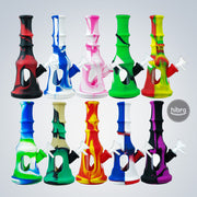 8 INCH SILICONE PIPE W/ GLASS TUBE