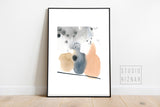 Abstract watercolor ART PRINT // no.6 earth