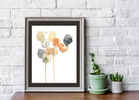 Abstract watercolor ART PRINT // COLORS