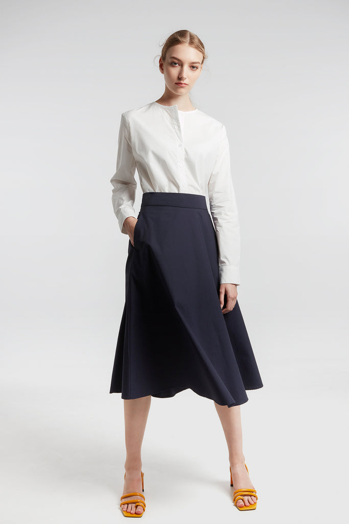 Midnight Blue A-line Skirt