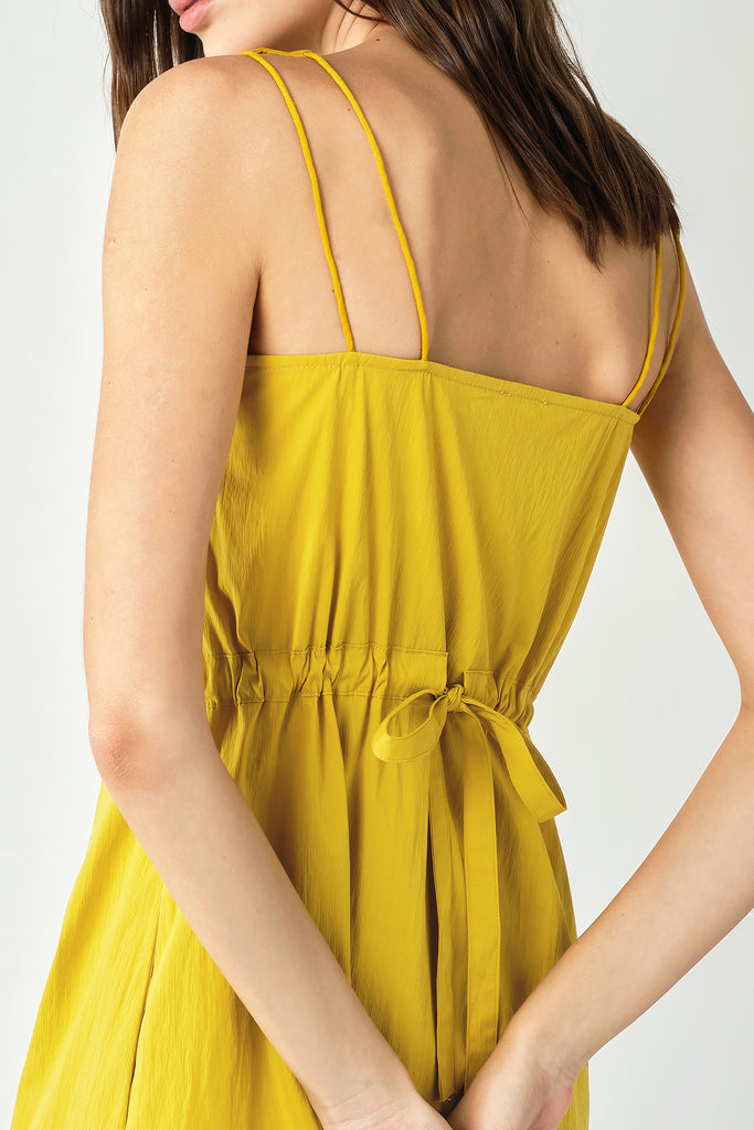 Yellow Dress With Tie-Back
