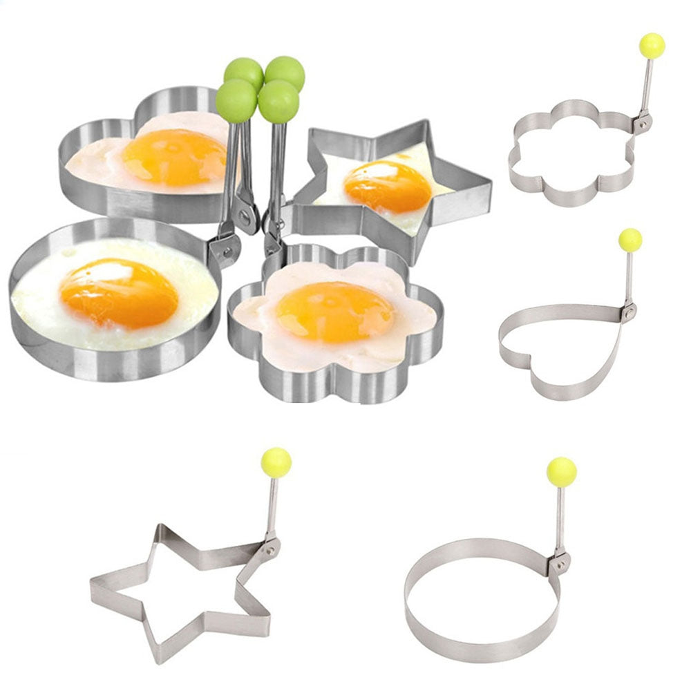 Set of 4 Fried Egg Shapers / Pancake Moulds