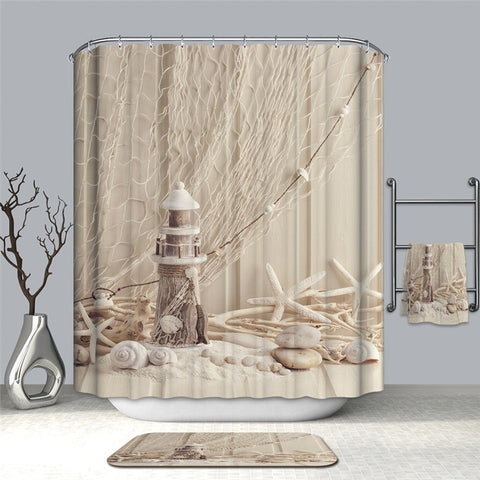 Beach-Style Shower Curtains