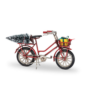 "7.5"" Christmas Bicycle Ornament"