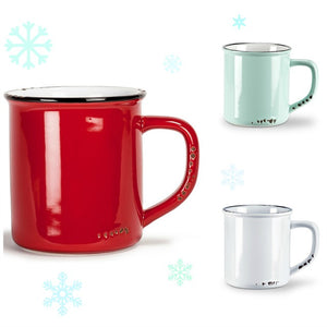 Enamel Look Mug - various colours