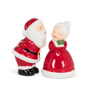 Kissing Santa - Mr. & Mrs. Claus Salt & Pepper Shakers