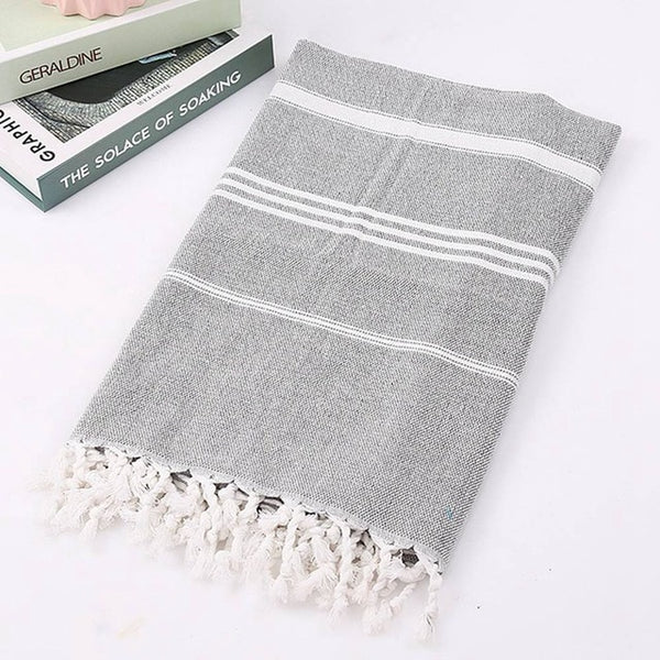 Fringed Turkish Cotton Spa Hammam Towel