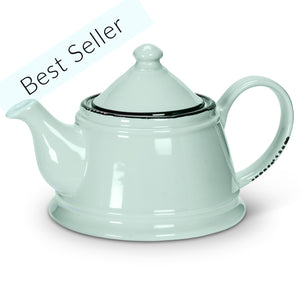 Enamel Look Tea Pot
