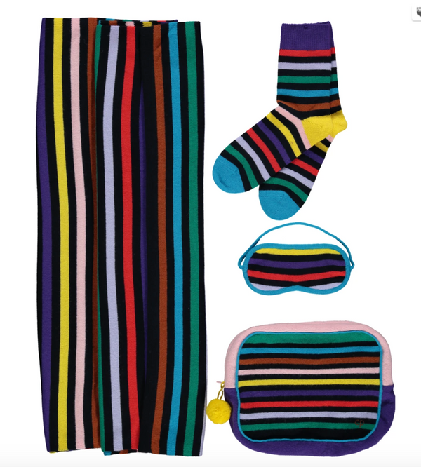 Rainbow Cashmere Travel Set Featured in Home & Interiors Scotland Luxe Edition