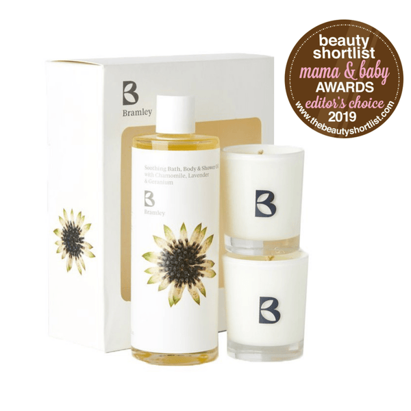 Bramley Bath Oil Soothing Oil & Candle Set