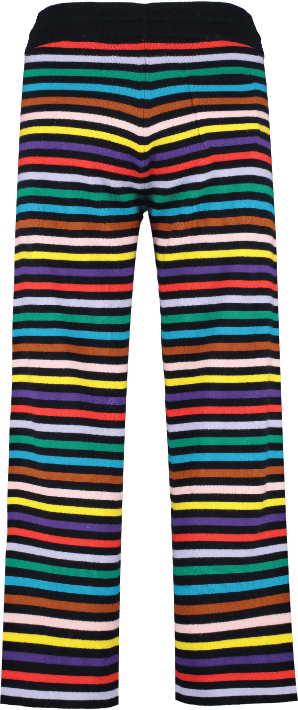 Chinti & Parker Loungewear Navy Rainbow Stripe Cashmere Trousers