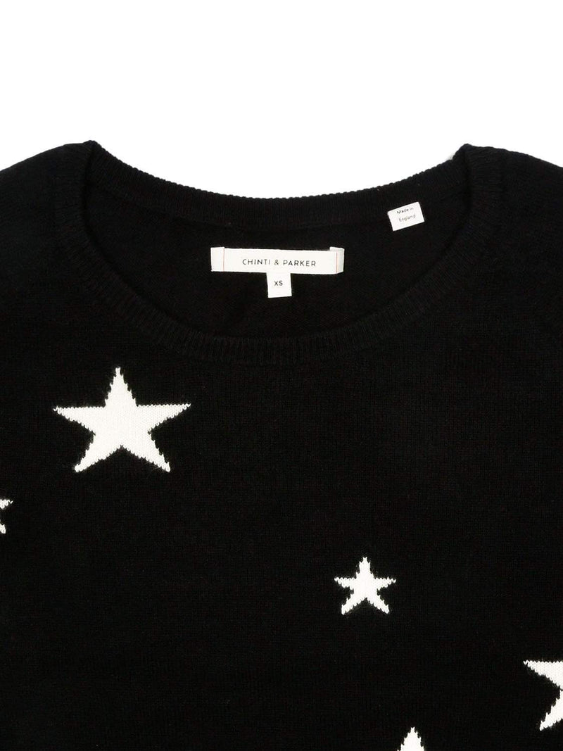 Chinti & Parker Loungewear Navy Star Cashmere Sweater